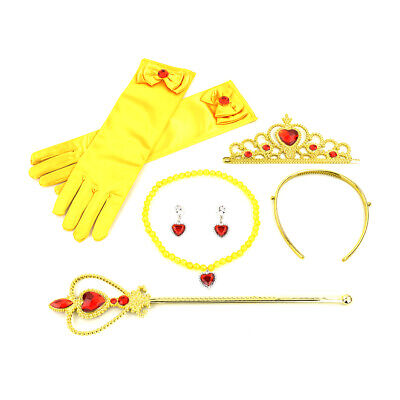 7X Princess Cosplay Princess Queen Wand & Tiara Crown Kids Girls Dressing Up Set • 6.29£