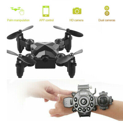 $19.78 • Buy Mini Drone Selfie WIFI FPV Dual HD Camera Foldable Arm RC Quadcopter Toy US New
