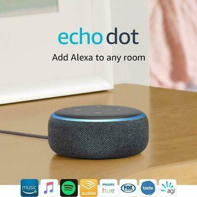 AU68.99 • Buy New Amazon Echo Dot 3rd Generation Smart Assistant Speaker Alexa Charcoal Fabric