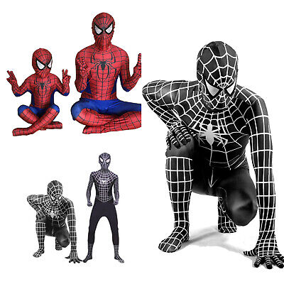 Mens Boys Spiderman Super Hero Cosplay Costume Fancy Dress Jumpsuit Sets Clothes • 16.81£