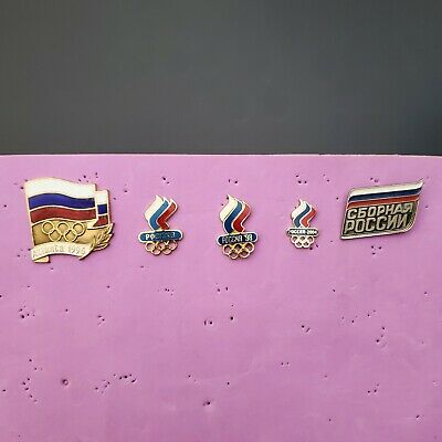 $35 • Buy Lot 0f 5 Pins Olympic Team Russia