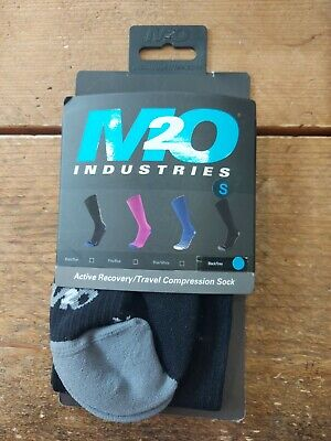 M2O ACTIVE RECOVERY KNEE HIGH COMPRESSION SOCKS Small Black • 14.99£