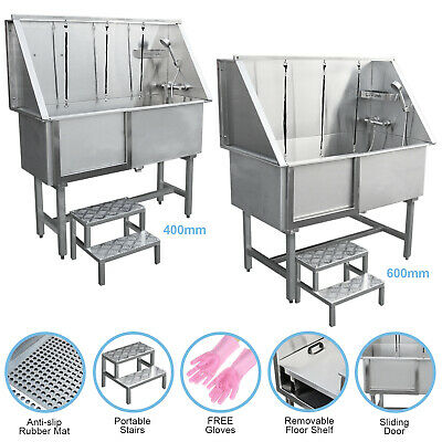 Dog Grooming Bath Stainless Steel Pet Washing Station Professional Shower Tub • 899.99£