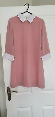 Hears And Bows Pastel Pink Collard Dress • 4£