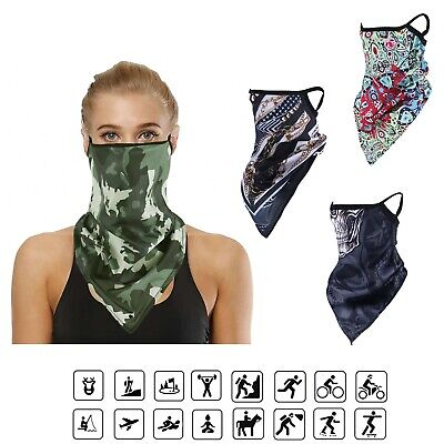 $3.68 • Buy Neck Gaiter Face Balaclava Bandana Scarf Sun UV Covering With Loops Ear FastShip