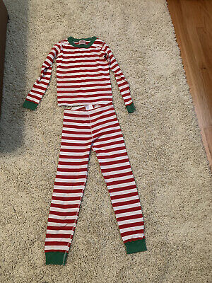 $9.50 • Buy Hanna Andersson  Size 8 (130) Pajamas Set Long Johns Organic Cotton