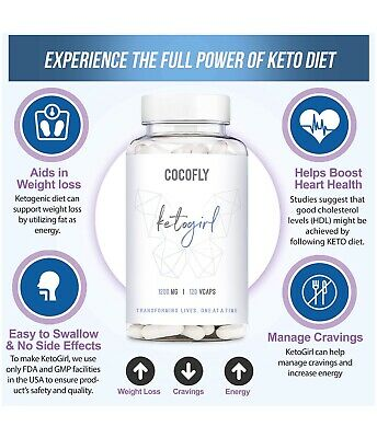 $6.75 • Buy COCOFLY Ultra Fast Keto Boost - 1200 Mg KetoGirl Burn Pills For Women - NEW