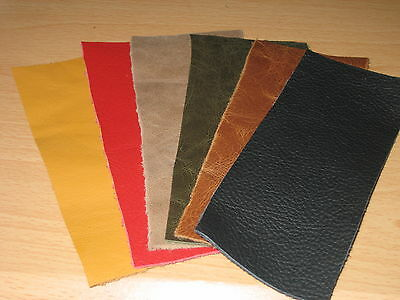 £3.75 • Buy 6 X Leather Offcuts/ Scraps/ Remnants For Patchwork / Repairs& Crafts- Mixed