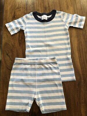 $17.50 • Buy Hanna Andersson Boys Striped Pajamas 120 US 6-7