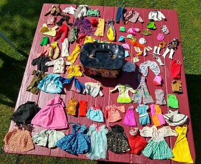 $ CDN83.01 • Buy Large Vintage Barbie Clothing & Accessories Lot Ken Tressy Francie Clothes 1960s