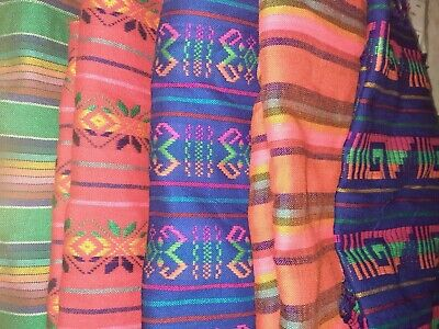 £7.07 • Buy Mexican Fabric By The Yard Multicolor Tela Mexicana