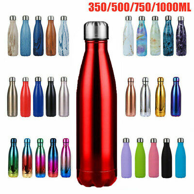 AU19.99 • Buy Insulated Water Bottle Vacuum Flask Travel Sports Chilly Hot Cold Drink Thermal