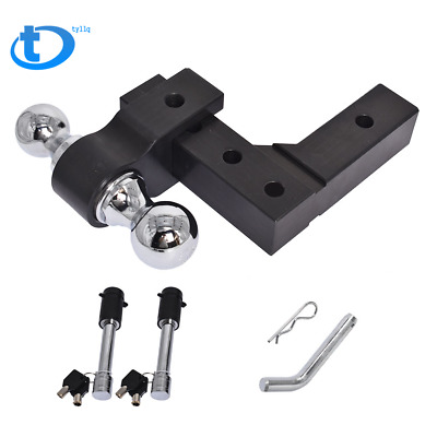 $84.69 • Buy 6061 Aluminum 6'' Adjustable Receiver Trailer Hitch Towing W/ 2  & 2-5/16  Ball