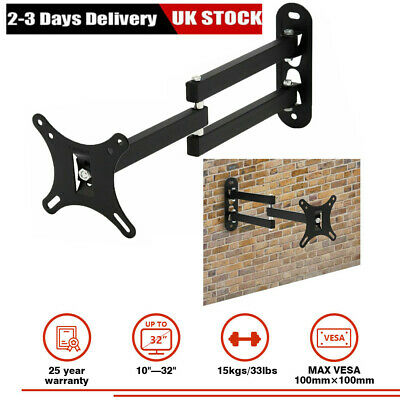 Tilt Swivel TV Wall Mount Bracket For 10 - 32 Inch LCD LED Plasma Flat Monitor • 6.59£