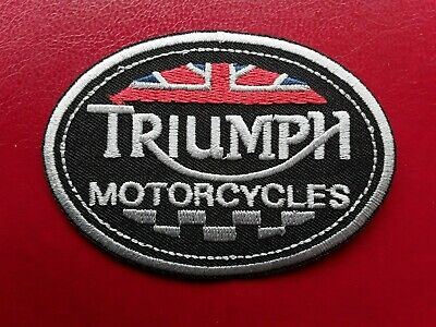 Triumph British Bike Motorcycle Manufacturer Embroidered Quality Patch Uk Seller • 3.29£