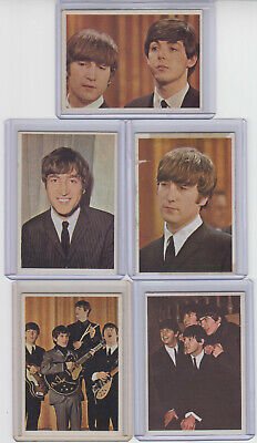 $19.99 • Buy 1960's TOPPS BEATLES COLOR SERIES TRADING CARDS & BEATLES DIARY  LOT Of 5