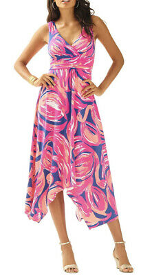 $39.99 • Buy Lilly Pulitzer Sloan Dress Small Navy Blue Magenta Pink Coral