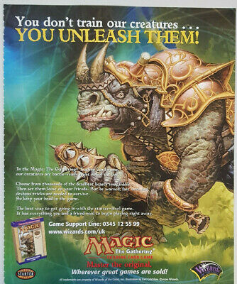 Magic The Gathering Trading Card Game Advert Promotional Ad Promo Poster Vintage • 5.99£