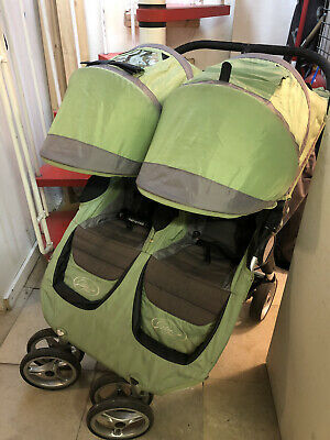 Baby Jogger City Mini Double Pushchair - Green/Grey • 34.99£