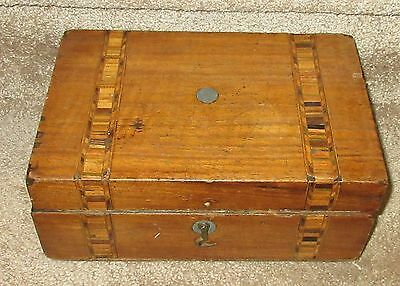 $ CDN19.99 • Buy Vintage Antique Sewing Box With Inlay