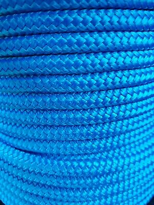 AU32 • Buy 12MM Double Braided Rope Polyester Yacht Rope 25MTS Blue