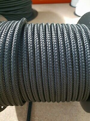 AU32 • Buy 12MM Double Braided Rope Polyester Yacht Rope 25MTS Black