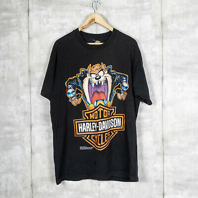 $ CDN67.65 • Buy Vintage 1993 Harley Davidson LOONEY TUNES TAZ Big Print T-Shirt Black Size XL