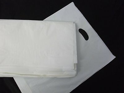 £7.12 • Buy STRONG WHITE Patch Handle Carrier Bags 15  X 18  + 3  Gift Retail Shopping Bags