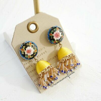 $ CDN61.67 • Buy Anthropologie Yali Enameled Drop Earrings NWT