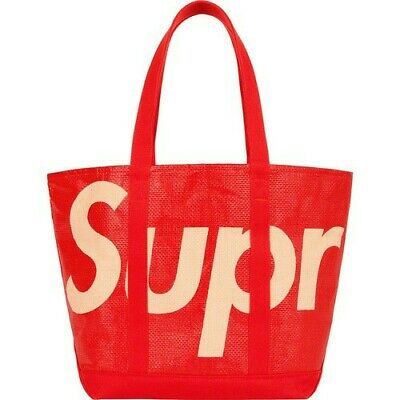 $ CDN156.28 • Buy Supreme 'Raffia Tote' Red S/S 20 Week 17