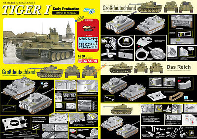 Dragon 6950 1/35 Scale TIGER I Early Production Battle Of Kharkow 2020 New • 54.59£