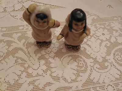 $14.95 • Buy VINTAGE  CERAMIC ARTS STUDIO Boy & Girl Dressed As Eskimos