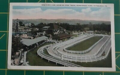 $7.99 • Buy Vintage Postcard Bird's Eye View Kennywood Park Pittsburgh, PA Pony Track