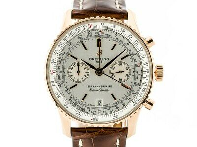 £11500 • Buy Breitling Navitimer 125th Anniversary 18k Rose Gold Automatic Watch Box & Papers