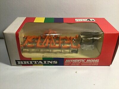 Britains Farm 9547 Front Mounted Cultivater Plough Mint In Original Box • 29.99£