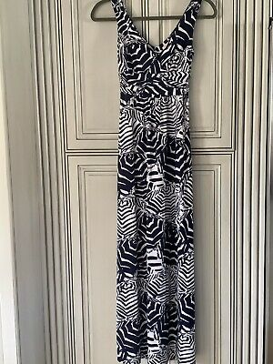 $19.99 • Buy Womens Lilly Pulitzer  Summer Maxi Dress XS Sleeveless, Navy, White. Extra Small