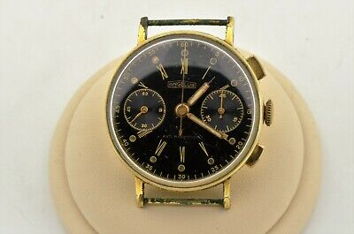 $ CDN150.36 • Buy Vintage Angelus Swiss Manual Wind Chronograph 35mm Black Dial Watch