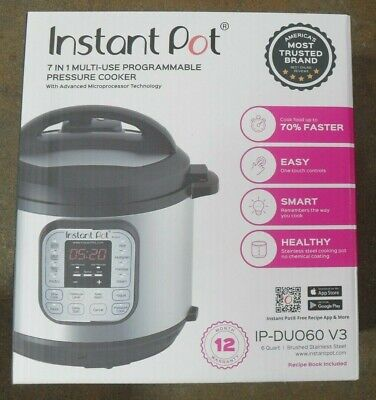 $40 • Buy Instant Pot IP-DUO60 V3 6-Qt 7-in-1 Multi-Use Programmable Pressure Cooker