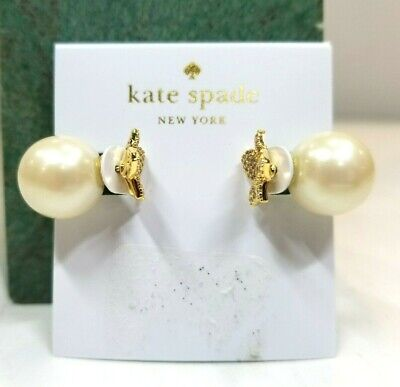 $ CDN20.11 • Buy Kate Spade Metallic Blooming Pave Bloom Reversible Earrings