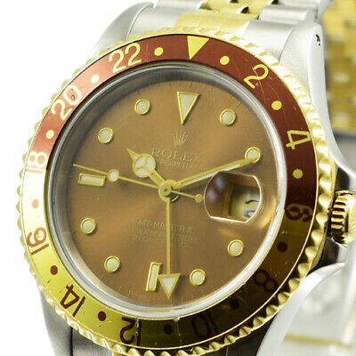 $ CDN13478.80 • Buy Rolex Used  -  Gmt Master In Steel With Yellow Gold Rootbeer Bezel