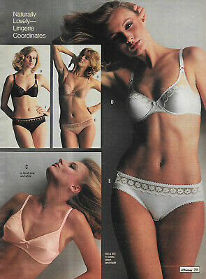 $24.99 • Buy Pretty Ladies In Lacy Undies Vintage Catalog Lingerie Photo Clipping