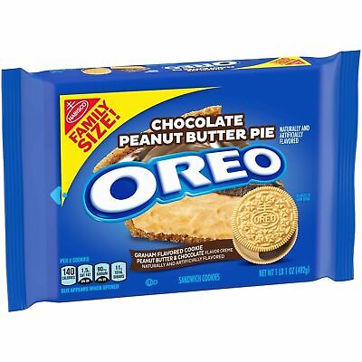 Oreo Chocolate Peanut Butter Pie Sandwich Cookies, 1 - 17 Oz Family Size Pack... • 11.52£