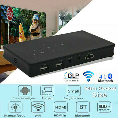 AU289.98 • Buy 3000 Lumens Mini Portable DLP Android Wifi HD 1080P Video Home Theater Projector