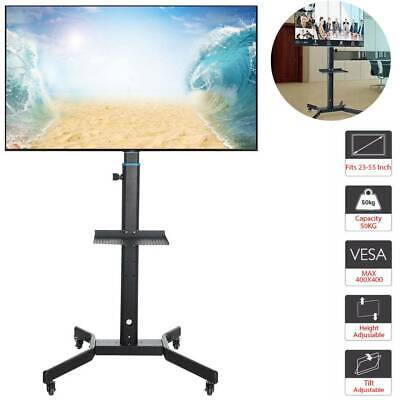 £45.99 • Buy Mobile TV Cart Floor Stand Mount Home Exhibition Trolley Television For 23 -55