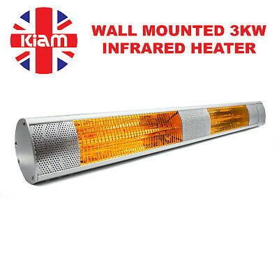 3KW Outdoor Electric Patio Heater Garden Wall Mounted Infrared Waterproof • 51£