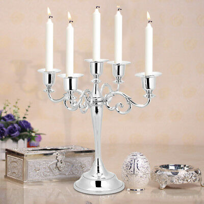 £15.62 • Buy 5-Arm Desk Table Candlesticks Candelabra Home Party Wedding Dining Candle Holder