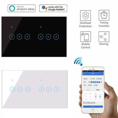 AU27.99 • Buy DIERYA Smart Home WiFi Touch Light Wall Switch Panel Alexa Google 4/5/6 Gang