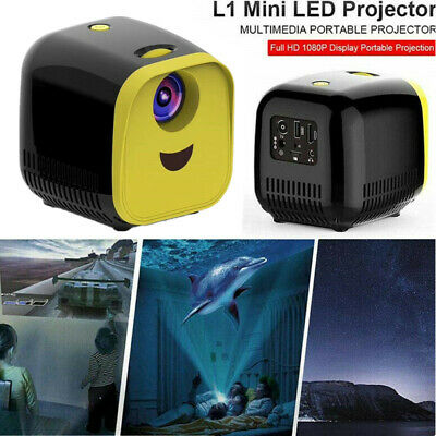 Mini Portable Pocket LED HD 1080P Projector LCD HDMI 3D Home Theater Cinema USB • 39.89£