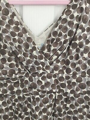 £25 • Buy Boden Brown Grey Spotty Dress. Fitted. Size 14. Sleeveless. Party. Evening Smart