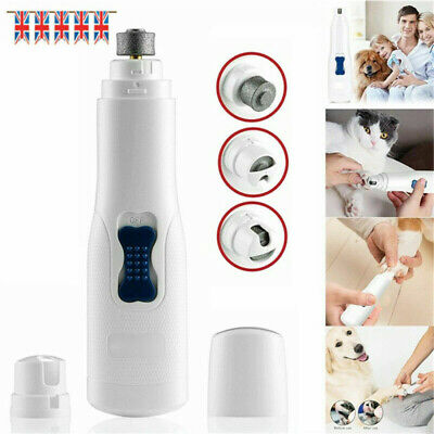 Electric Pet Nail Grinder Safe Claw Grooming Trimmer Dog Cat Paws Clipper Tools • 6.99£